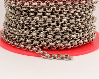10ft 5.7mm Rolo Chain - Antique Silver - 5.7mm Links - CH81