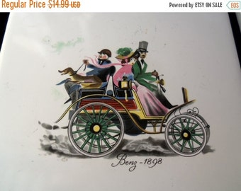 Christmas In July Sale Vintage Trivets Set of 2  Home Decor Wall Hangings Victorian Lover Style Late 1800's style Automotive Car Collectible