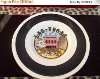 Now On Sale Vintage Las Vegas Souvenier Plate Made In Japan 1960's 70's Man Cave Collectible