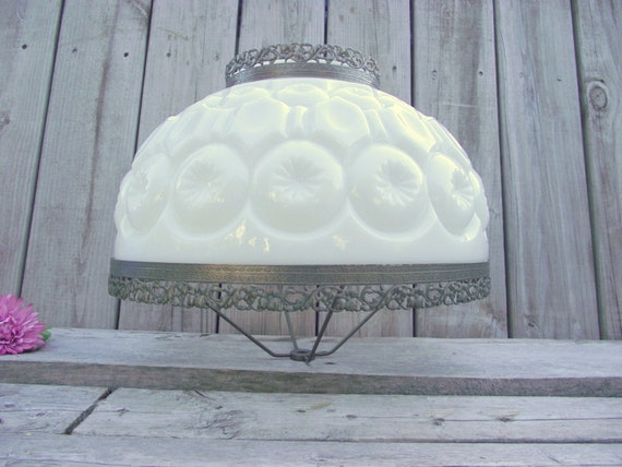 Moon Amp Stars Milk Glass Lamp Shade Victorian Parlor 14