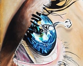 Eye painting, tear painting, tears, surreal, salvador dali, surreal art, abstract, pop art, lagrima, photo realism, wall art, realistic