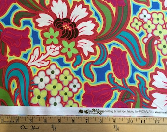 Amy Butler fabric -Soul Blossoms- Disco Flower- Hot Pink 1 yard