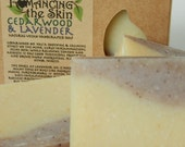Cedarwood & Lavender with Oatmeal Natural Vegan Handcrafted Lye Soap (Canine Soap)