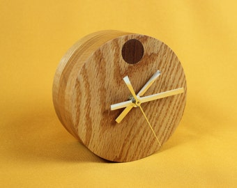 Desk or table clock solid Oak