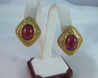 1972 Christian Dior Haute Couture Fashion Clip Earrings