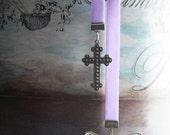 Bookmarker Crossing Butterflies Baby Purple Velvet
