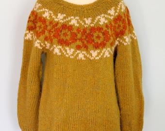 Fair Isle Wool Ski Sweater
