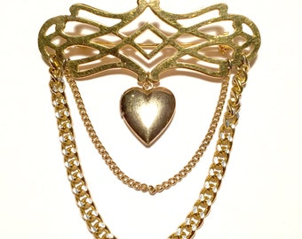 Vintage Brooch Rehab with Heart Locket