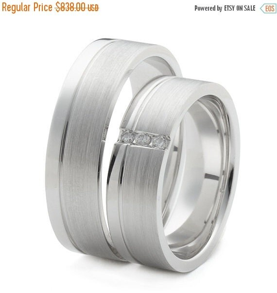 ON SALE Matching Gold Wedding Ring Sets With by FirstClassJewelry