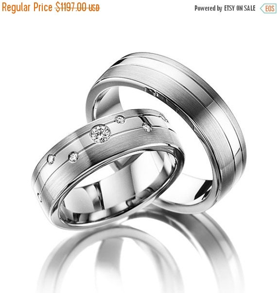 ON SALE Wedding Ring Sets 14K Gold With by FirstClassJewelry
