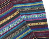 Thai Woven Cotton Fabric Tribal Fabric Native Fabric by the yard Ethnic fabric Aztec fabric Craft Supplies Woven Textile 1/2 yard (WF112)