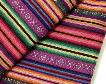 Thai Woven Fabric Tribal Fabric Native Fabric by the yard Ethnic fabric Aztec fabric Craft Supplies Woven Textile 1/2 yard Purple Pink (FF9)