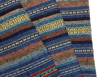 Thai Woven Cotton Fabric Tribal Fabric Native Fabric by the yard Ethnic fabric Aztec fabric Craft Supplies Woven Textile 1/2 yard (WF57)