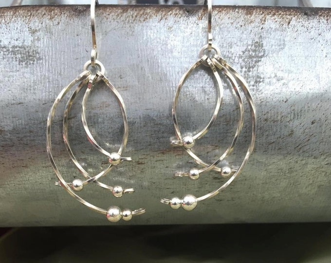 Featured listing image: Sterling Silver earrings wire wrapped wire jewelry
