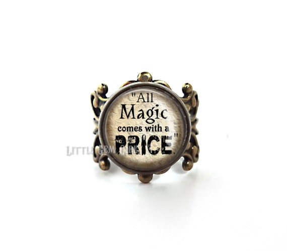 Price Quote: All Magic Comes With A Price Ring Once Upon A Time