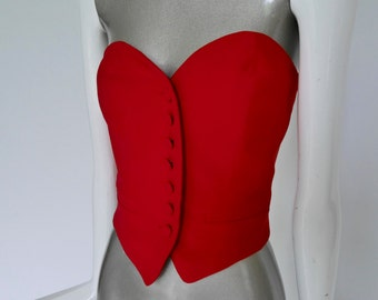 Vintage Moschino Couture bustier top  Cruise me Baby collection 15% discount w code