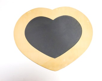 Unfinished Wood Heart Chalkboard, Wooden Heart-Shape Cutout 2 Paint Stencil Decorate, DIY Wood Craft Supply Valentine Project itsyourcountry