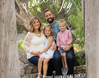 Peace and Joy Holiday Photo Card- Digital