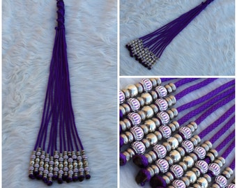 Meat Grinder Rope Floggers in Purple