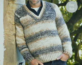 King Cole Knitting Patterns To Download : Easy Mens Shawl Collar Jacket Vintage Knitting Pattern Download from Mom...