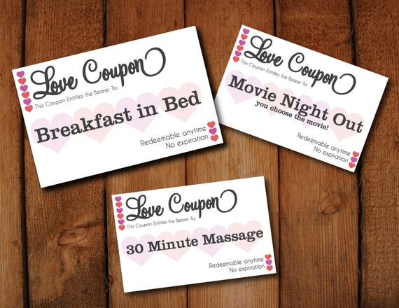 Editable Love Coupons  DIY Instant Download Digital Template To Print Your  Own Tickets  Microsoft Word Editable And PDF Version  Microsoft Coupon Template