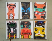 SPECIAL LISTING for Dan- set of 6 original Totem ACEO's