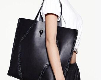 Handstitched Leather Tote Bag