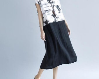 Women Loose large size long dress women long summer sundress