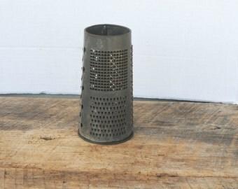 Vintage Grater Round Cylinder Shape Kitchen Grater Made in England