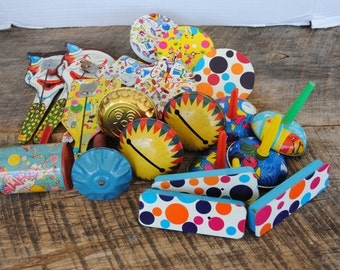 Vintage Collection of Party Noise Makers Assorted Variety