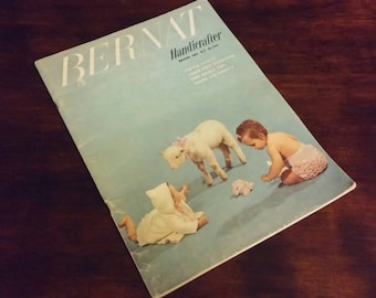 Knitting Book, Vintage Pattern Book, Bernat Handicrafter Book, Children's Pattern Book, Toddlers Patterns, Knitting Instructions, Craft Book