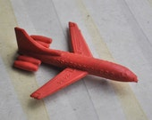 Vintage Soviet Russian rubber toy, USSR aircraft.