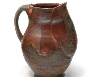 Blue Wood Fired Pitcher