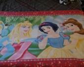 Classic Disney Princess fleece panel with crocheted edge