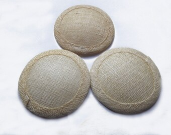 Approximately 10cm diameter sinamay fascinator base - Natural Ivory - 3 Bases