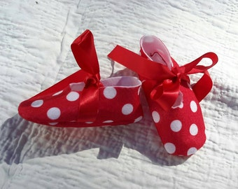 Polka Dot Baby Shoes, 3-6 months | FREE SHIPPING