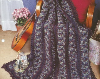 The Needlecraft Shop Crochet Afghan Collector Series Bobbles and Braids Pattern