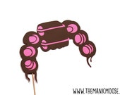 Hair Rollers Photo Booth Props - Hair Curlers - Fun Photo Props - you choose color