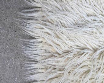 "8 x 11' FLOKATI rug Greek HUGE all natural wool shag throw carpet mid-century retro 2-1/2"" pile"