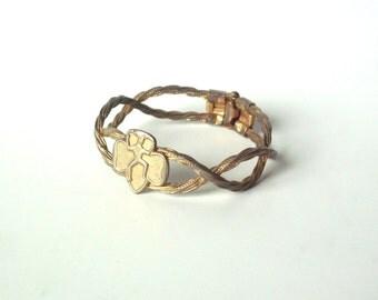 Rare Vintage Braided Brownie Girl Scouts Clamper Bracelet