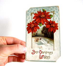 WW1 British Vintage Antique Christmas Postcard