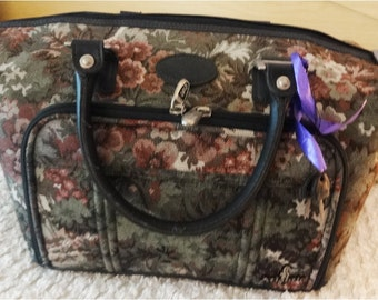 SALE ... Vintage Tapestry Luggage Tote by Atlantic