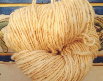 Wheat - Portuguese merino 144g hand spun & naturally dyed