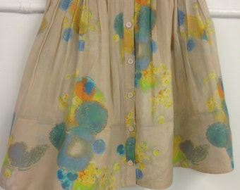 VINTAGE Lined Silk and Cotton AEFFE Soft Pleated SKIRT