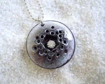 Moon Crater Outer Space Necklace Artisan Jewelry