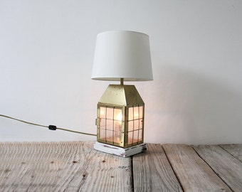 Brass & Glass Ships Lantern Lamp
