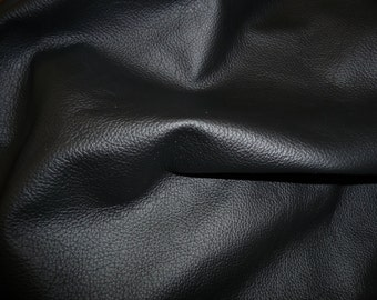 "Leather 12""x12"" DIVINE Black Top Grain Cowhide 2.5 oz / 1 mm PeggySueAlso™ E2885-24 Full hides available"