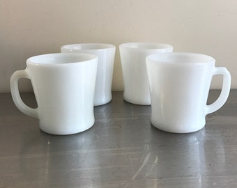 White Coffee Mugs by Fire King