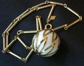 Sarah Coventry Necklace Fashion Circle Thermoset Ball Pendant Retro 1960s Jewelry