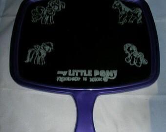 My Little Pony laser engraved girls vanity mirror, girls dresser mirror, my little pony mirror, custom etch vanity mirror